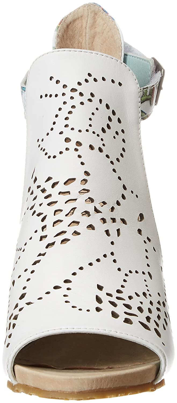Laura Vita Damen Becrnieo 30 Blanc) Peeptoe Sandalen, Weiß (Blanc Blanc) 30 590614