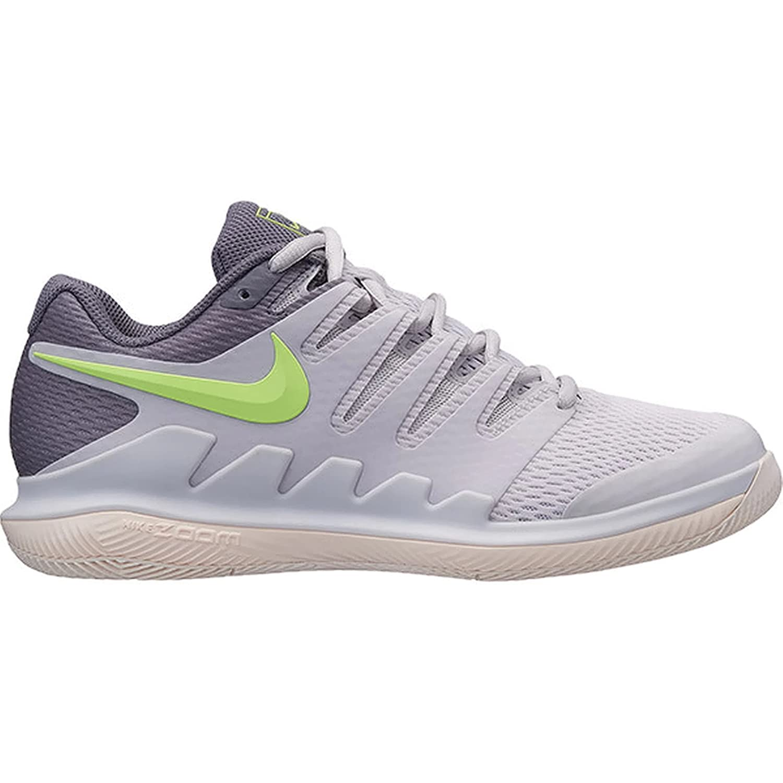 NIKE Women's Air Zoom Vapor X HC Tennis Shoes B078FG43XM 8 B(M) US|Vast Grey/Volt Glow/Guava Ice/Gunsmoke