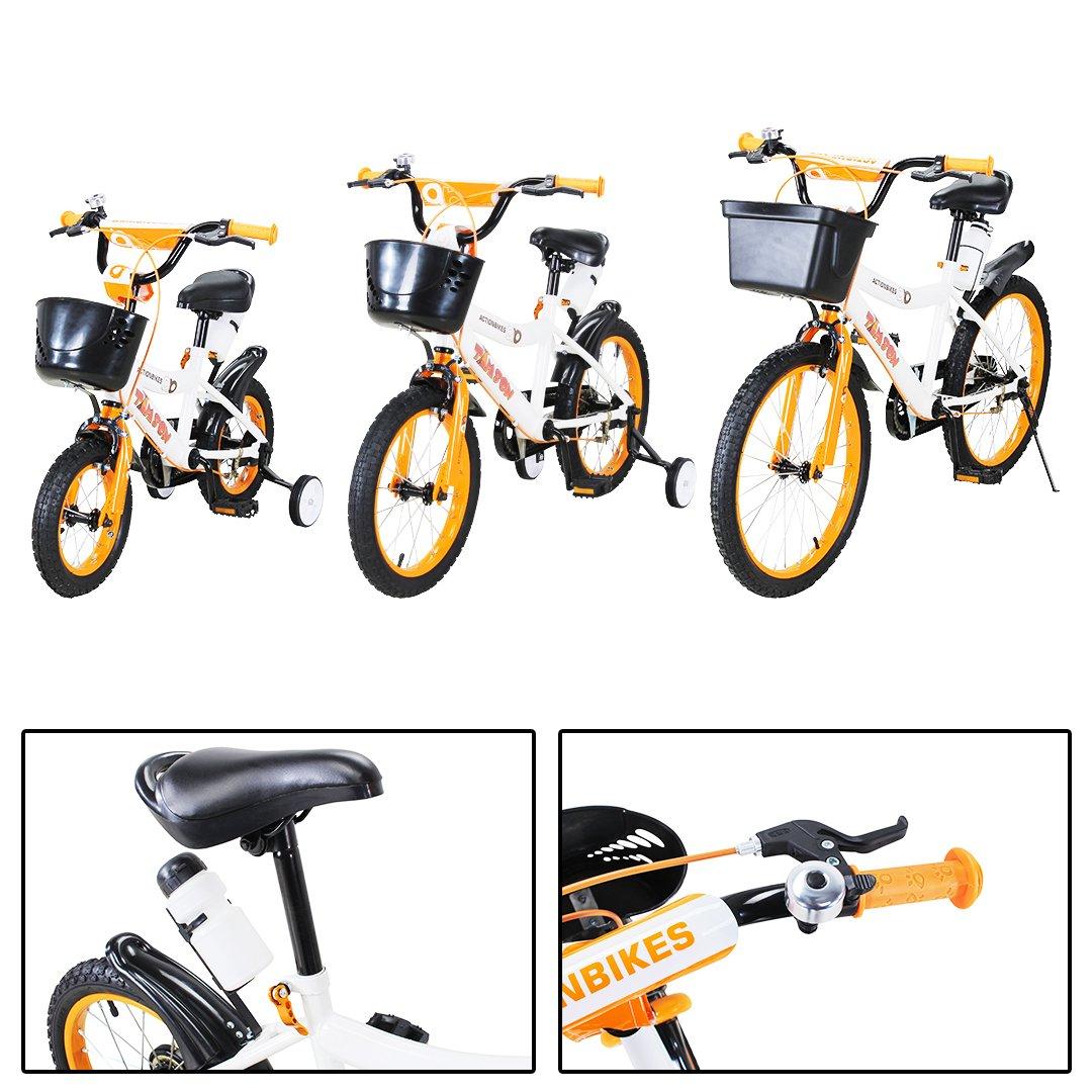 Actionbikes Kinderfahrrad Timson ab 3 Jahren 12 16 20 Zoll Gelb Kinder Mädchen Jungen Fahrrad