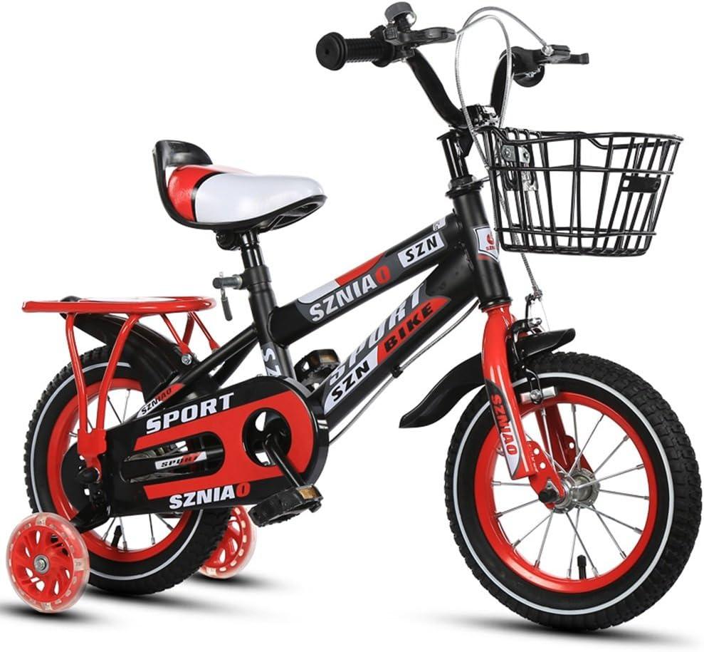 子供用自転車、2-3-4-6-7-8歳の男性と女性のベビーカー12-14-16-18-20インチの子供車 赤 20 inch