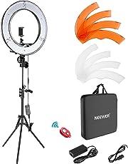 Neewer Luce ad Anello LED 48cm Esterno 55W 5500K Dimmerabile con Stativo di Luce, Ricevitore Bluetooth per Smartphone, Youtube, Vine, Autoritratto