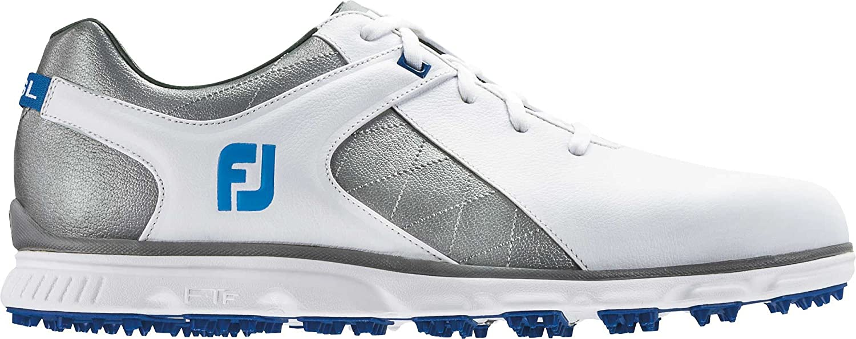 FootJoy Men's Pro SL Spikeless Golf Shoes 53266 B079VKXJ38 9.5 M US|White/Grey/Light Blue