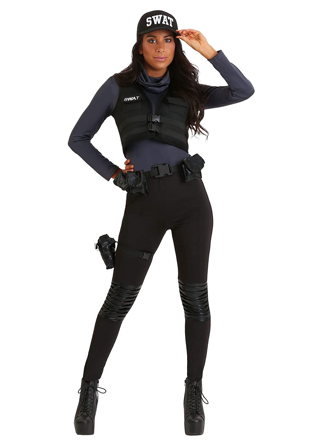 Small SWAT Babe Womens Fancy Dress Costume Small