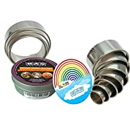 K&S Artisan Round Cookie Biscuit Cutter Set Heavy Duty 11 NUMBERED & Graduated Circle Pastry Cutters Commercial QUALITY 100% Stainless Steel Metal Ring Baking Molds For Muffins Crumpets Donuts Scones