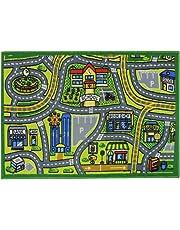 JVL Children's Road Map Town Play Mat, Polyamide, 80 x 110 cm