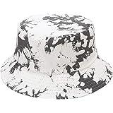 Mashiaoyi Unisex Print Double-Side-Wear Reversible Bucket Hat