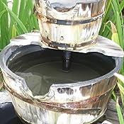 Amazon Com Rustic Three Tier Apple Barrel Outdoor Water