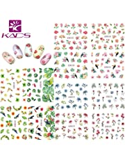 KADS Nail Art Stickers Full Wrap Space Design- Flower Leaves Flamingos Nail Sticker Tattoo Summer Nail Decals