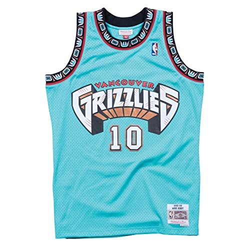 Mike Bibby Memphis Grizzlies Mitchell and Ness Mens Teal Throwback Jesey