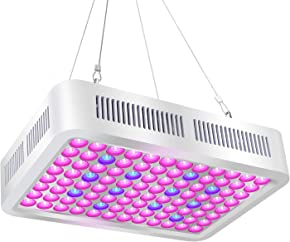 Roleadro LED Grow Light, Reflector-Series 600W Red Bule Full Spectrum Grow Lamp with Dual-Chip for Hydroponic Indoor Plants Vegetative and Flower
