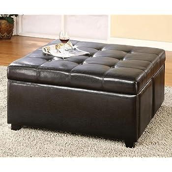Amazon Com Furniture Of America Warwick Ottoman With