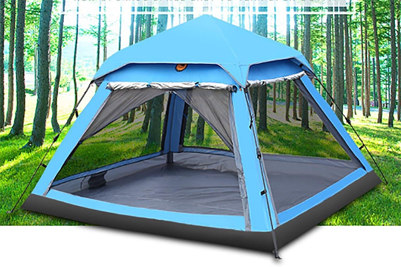 KOKR Automatisches Hydraulisches Wasserdichtes Zelt für 2-3 Personen Doppeltes Regendichtes Sonnenschutzes des Zelt-CampFeuer Campingzelt