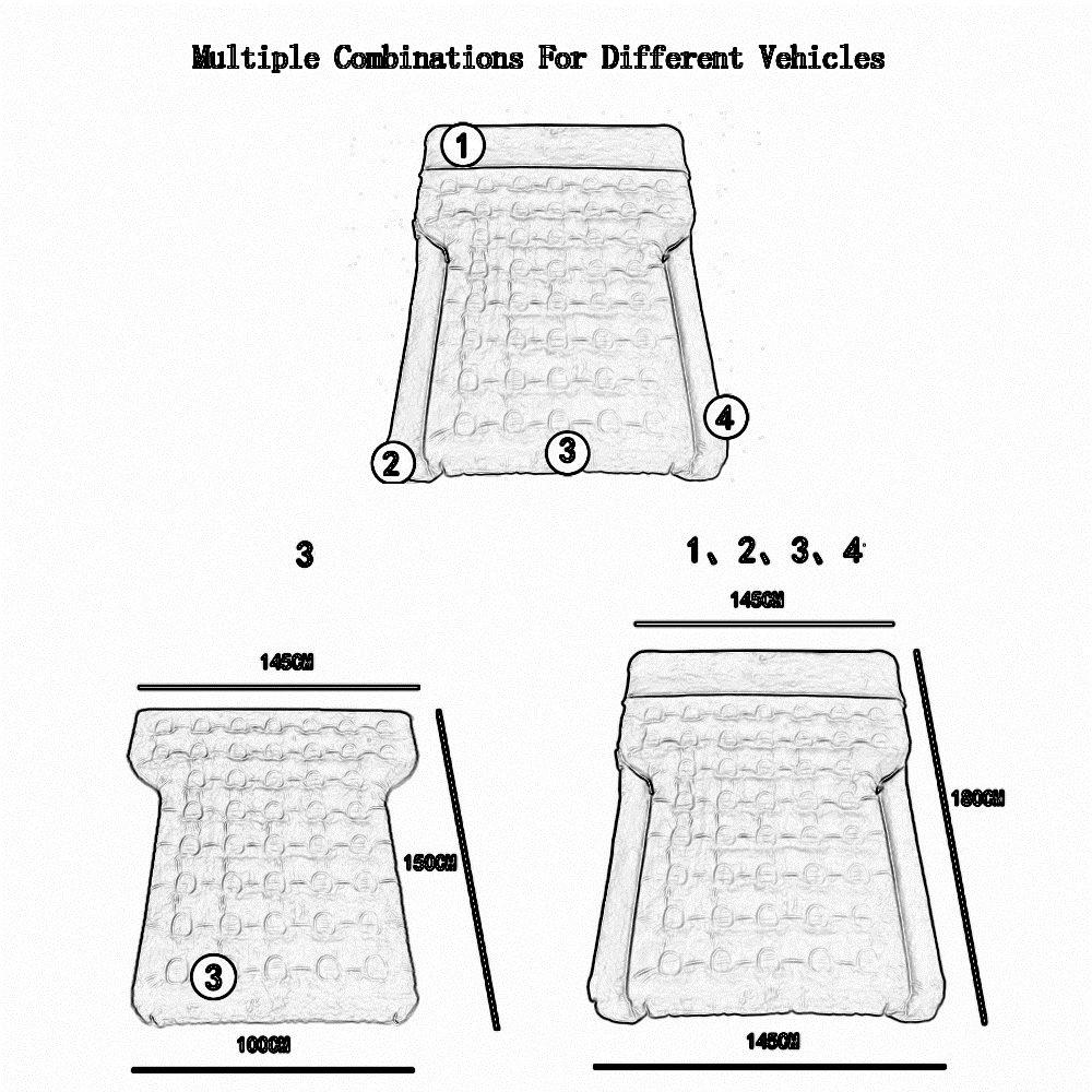 Car bed HUO Vergrößern Aufblasbare Matratze Mit Vergrößern HUO Pad, Reisen Camping Universal Gelb 5ea8c5