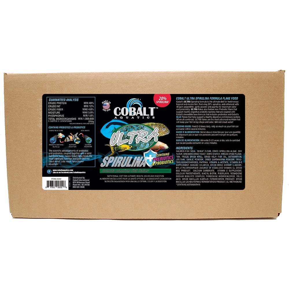 Cobalt Aquatics MODEL-23065 1 Piece Ultra Spirulina Flake Fish Food, Large 10 lb