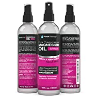 Pure Magnesium Oil Spray - LEAST ITCHY and Highest Potency - ONE 12fl. Oz Transdermal...