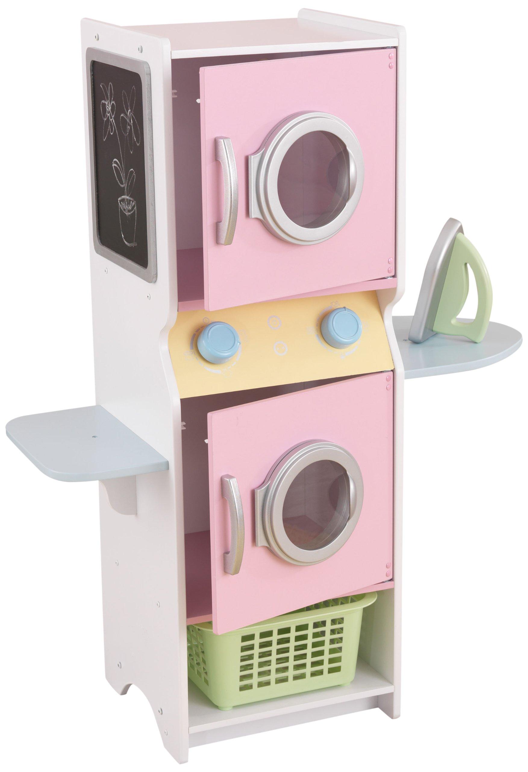 real kidkraft wood pretend washer and dryer play set for kids girls toy playset 660960287776 ebay. Black Bedroom Furniture Sets. Home Design Ideas