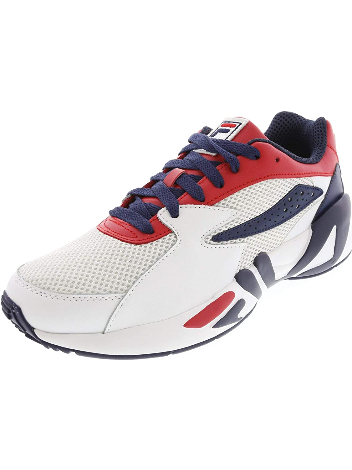Fire Red   White   Navy Fila Men's Mindblower Athletic Style Casual Sneaker