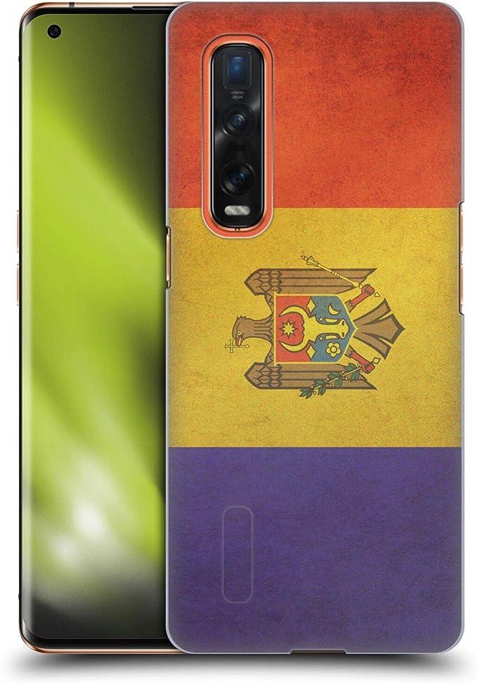 Amazon.com: Head Case Designs Moldova Moldovan Vintage Flags Set 5 Hard Back Case Compatible with Oppo Find X2 Pro