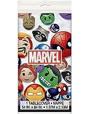 "Unique Marvel Emoticon Plastic Tablecloth, 84"" X 54"""