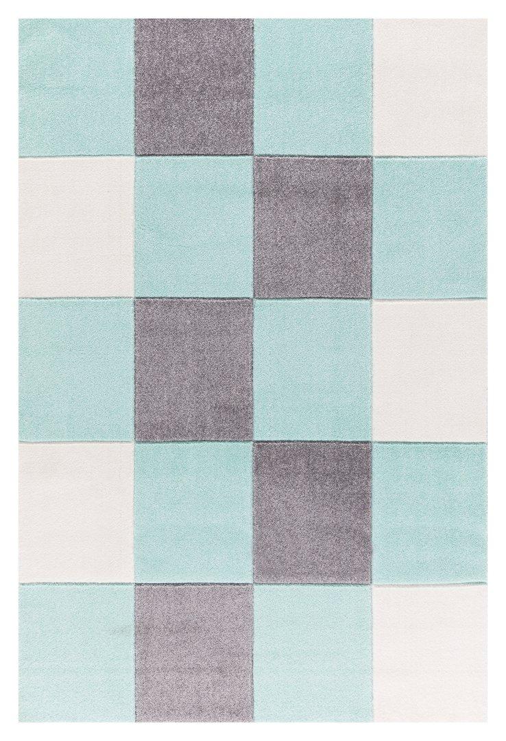 Livone Kinderteppich Happy Rugs Checker Mint 120 x 180 cm