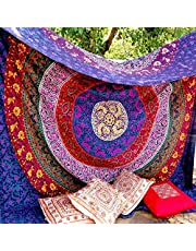 Craftozone Unique Indian Hippie Mandala Tapestry by