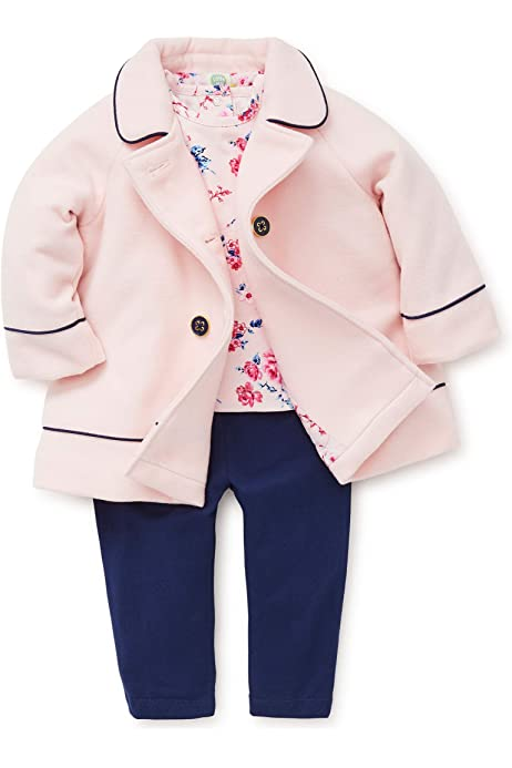 Fineser TM Toddler Kids Baby Girls Winter O-neck Warm Thick Clothes Open Front Corduroy Coat Jacket