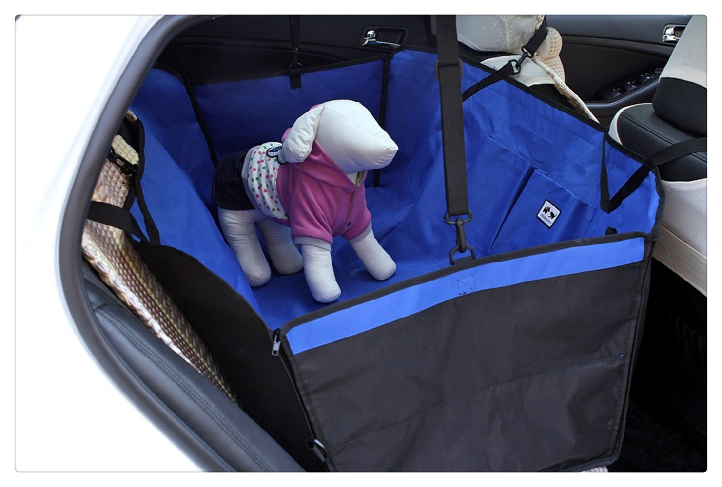 bluee IshowStore Pet Dog Predector Mat Waterproof car rear back seat Cove