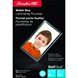 Swingline GBC SelfSeal Self Adhesive Laminating Pouches, 8 Mil, Wallet Size, 2-3/8 x 3-7/8-Inch, 10 Per Pack, 6447405006