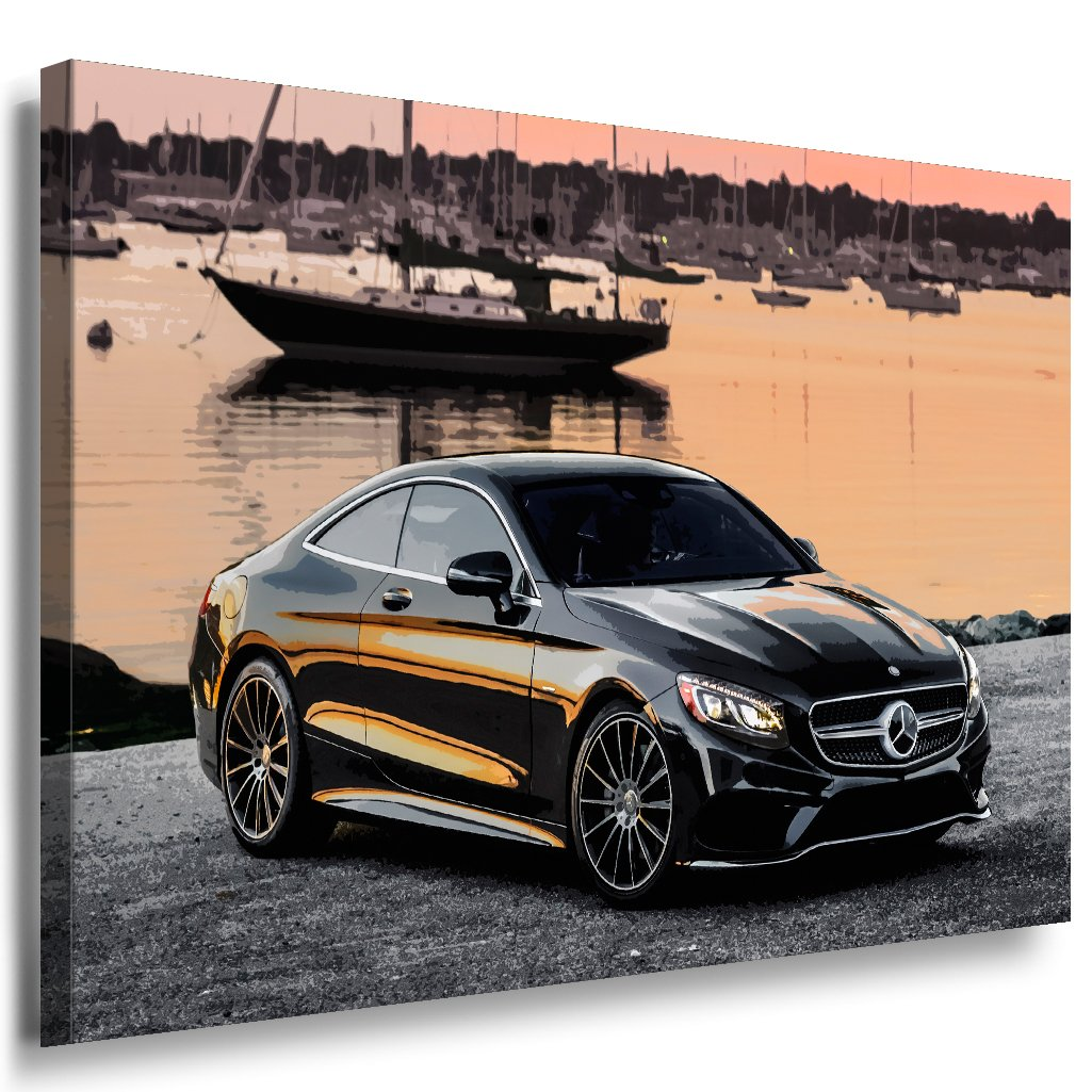 Mercedes Benz S class s550 AMG Leinwandbild Leinwandbild AMG LaraArt Bilder Mehrfarbig Wandbild 120 x 80 cm 010d32