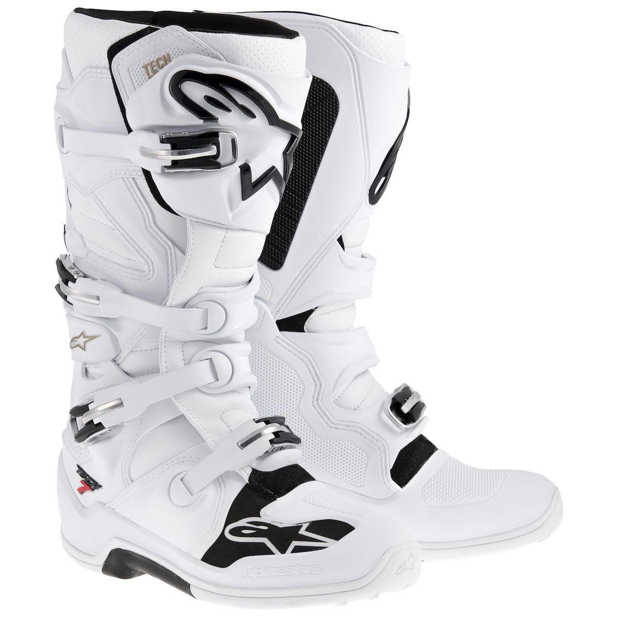 Alpinestars Tech 7 Mens White Motocross Boots - 15 B00E4NN0TM 15 D(M) US