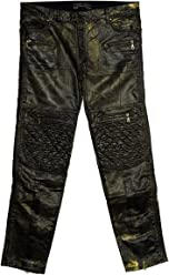 Robins Jean Designer Jeans Metallic Finish Mens
