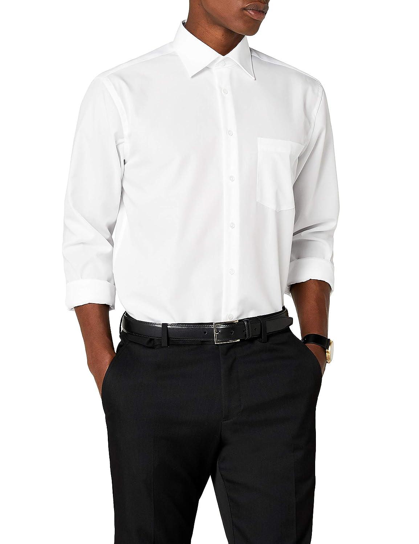 Blanc - Blanc (01 Blanc) Medium  Seidensticker Kent Chemisier Affaires Homme