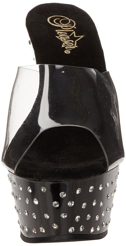 Pleaser Women's Stardust-601 Platform Sandal B0044D3UYC 7 B(M) US|Clear/Black
