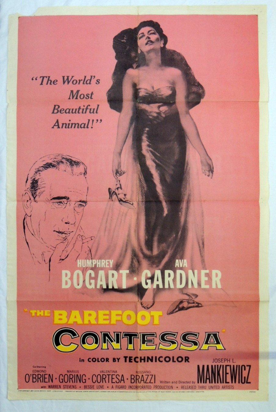 Orig 1954 Barefoot Contessa Movie Poster Humphrey Bogart Ava Gardner Humphrey Bogart Ava Gardner Amazon Com Books