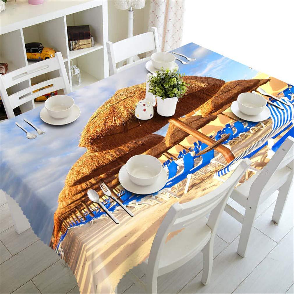 Couleur 5 180cm X 270cm 3D Nappe Ethnique Style Cottages Motif Tissu Imperméable épaissir Rectangulaire De Table De Mariage Tissu De Maison Textiles Couleur 1 180cm X 270cm