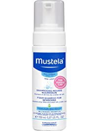 Mustela Foam Shampoo for Newborns, Baby Shampoo, Helps Prevent & Reduce Cradle Cap, 5.07 fl.oz.