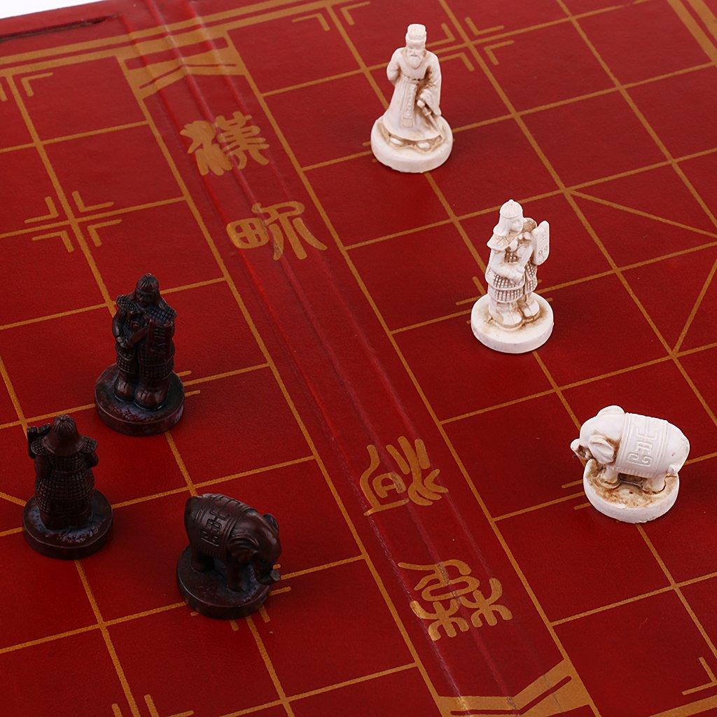 FLAMEER El Mejor Tablero Tablero Tablero De Ajedrez Plegable De Madera De Ajedrez Chino - 28 x 14 x 7.5 cm f9a8fc