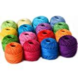 Thread Floss Sewing Soft 10g Cotton Balls Rainbow Colors of Size 8 Perle Pearl Cotton Threads for Crochet Hardanger Cross Sti