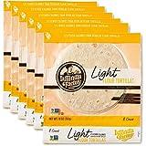 La Tortilla Factory Light Flour Tortillas, 8-Count, 6 Packages
