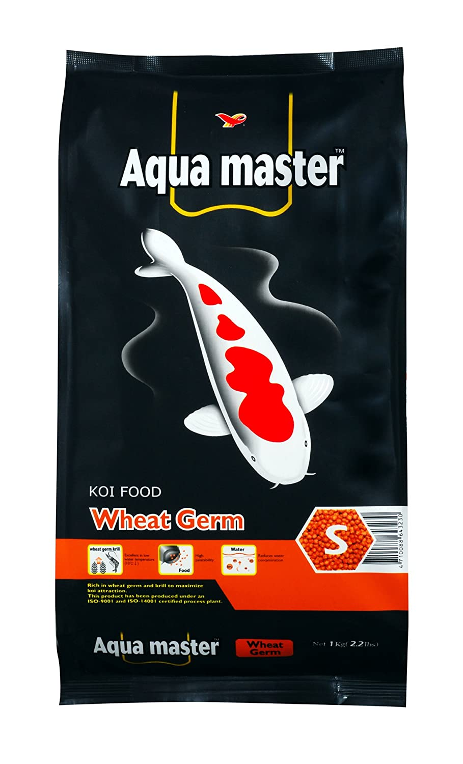 Aqua Master Wheat Germ Fish Food, 2.2-Pound Bag, Small