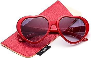 677fdc9363 Newbee Fashion - Kyra Kids Girls Fashion Heart Shaped Sunglasses Vintage  Cute Heart Sunglasses for Girls