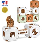 Cat Amazing STACKS! - Modern Cat Condo & Modular Cat Tree - House & Tunnel Cubes for Cats - Made in USA