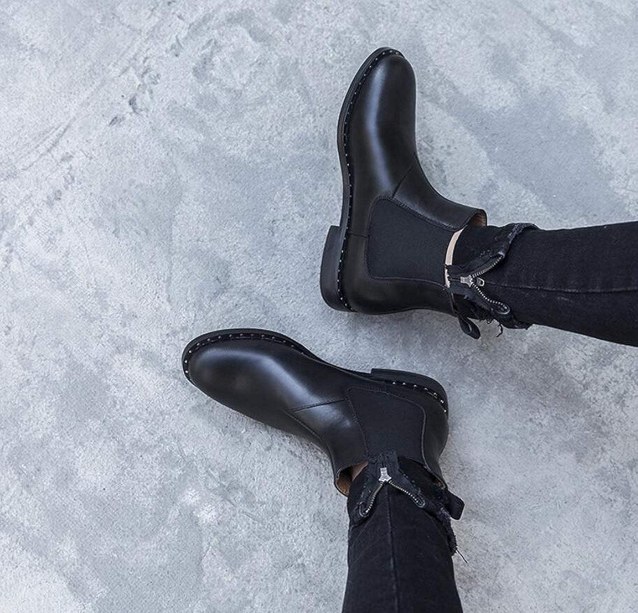 DANDANJIE damen damen damen Martin Stiefel Britischen Stil Mode Schwarz Stiefelies Herbst Winter 4184c2