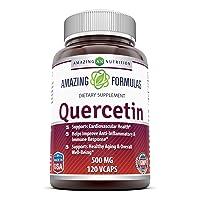 Amazing Formulas - Quercetin 500 Mg, 120 VCaps(Vegetarian Capsules) (Non-GMO,Gluten...