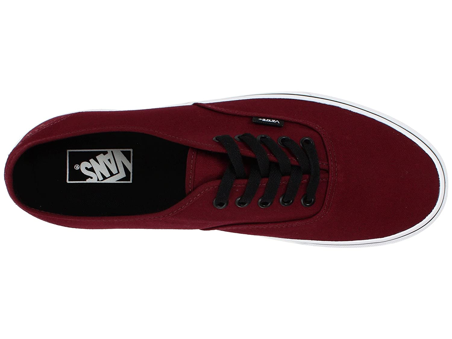 VANS Unisex Authentic Black Canvas VN000EE3BLK Skate Shoe B01N8ZGDMA 14.5 B(M) US Women / 13 D(M) US Men|Port Royale Red/Black
