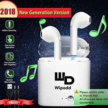 Wipodd Bluetooth Headset for Universal - White