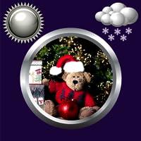 Christmas Clock Weather Widget