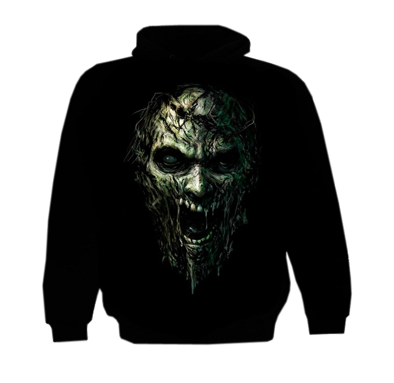 LUCYFIRE fashion Zipper Hoody Zombie Night
