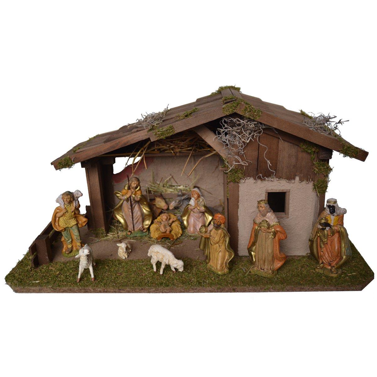 AlfROT Kolbe Krippen 1410 13 Weihnachtskrippe aus aus aus Holz für 11-13 cm Figuren 59 x 30 x 29cm 409156
