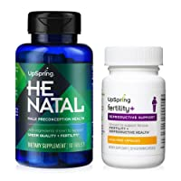 UpSpring Fertility Supplements for Women and Men | Fertility+ & HeNatal Capsules Support Conception | 30 Day Supply - Each